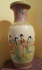 "Excellent Chinese Republic Period Export Porcelain Famille Rose Vases 18"""