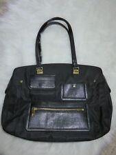 Tutilo Nylon Faux Snakeskin Laptop Case Tote Black Large Travel Bag Handbag