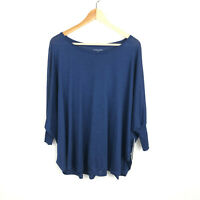 NWT Eileen Fisher Small Silk Cotton Jersey Top Boat Neck Oversized