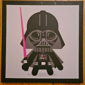 Star Wars Character Square Darth Vader Ready Framed Fabric 25x25x1.5cm