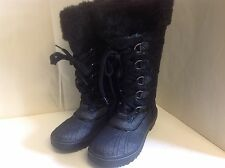 Babyphat Squirt Boot Lace Up Black  8 M  New Mid Calf