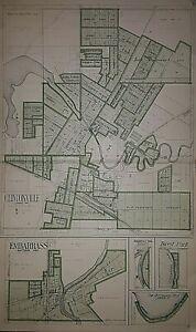 1923 Original Plat Map CLINTONVILLE Twp., WAUPACA Co., WISCONSIN ~ EMBARRASS