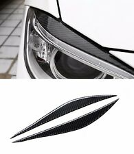 Carbon Fiber Strip For BMW 3 series F30 Front Headlight Eyebrow Decal Cover Trim