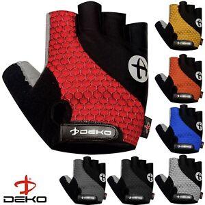 Deko Cycling Gloves Half Finger MTB Bicycle Gel Padded Fingerless Gloves Unisex