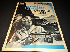 TRAHISON A ATHENES  Robert Aldrich   r mitchum   affiche cinema 1958