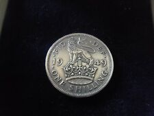 COLLECTABLE 1949 GEORGE VI-BRITISH SHILLING COIN-EXCELLENT CIRCULATED CONDITION
