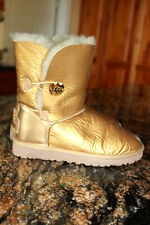 Ugg Australia Bailey Button Mirage Women US 7 Gold Winter Boot NICE