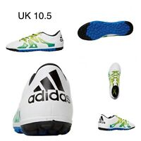 adidas Mens Boys X 15.3 TF Astro Turf Football Boots White Black Slime UK 10.5