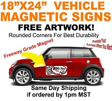 """18x24"""" FULL COLOR VEHICLE MAGNETS X2"""