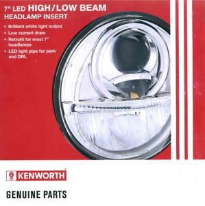 "KENWORTH 7"" INCH HEADLAMP ASSY INSERT LED HI/ LO 12/24V"