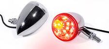 LED Rücklicht Bremslicht Blinker Chrom Motorrad universal Custom f. Harley Honda