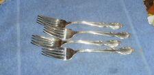 "Set of 4 Vintage "" Royal Manor_ Masterpiece_ Claridge "" Salad Dessert Forks"