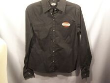 womens size medium HARLEY-DAVIDSON Long Sleeved Black Button down
