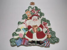Fitz And Floyd Essentials - Christmas Tree-Shaped Hanging / Canape Plate
