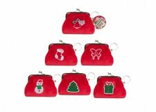 Red Christmas Tic Tac Purse Soft Fabric Clip Purse Stocking Filler Gift Present