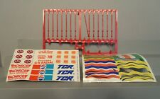 Ideal Tcr Slot Car Flags and Flag Poles