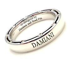 New! Authentic Damiani Brad Pitt 18k White Gold 20 Diamond 4mm Band Ring Sz 8