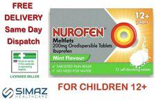 Nurafen Meltlets 200mg Orodispersible Mint Flavour Tablets 12 Tablets