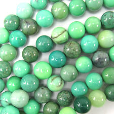 "Green Chrysoprase Round Beads Gemstone 15.5"" Strand 3mm 4mm 6mm 8mm 10mm 12mm"