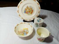 ROYAL DOULTON BUNNYKINS PLATE,MUG, BOWL & BANK SET