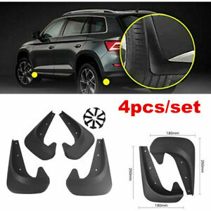 4X Universal Car Mud Flaps Splash Guards for Front or Rear Auto Accessories Set