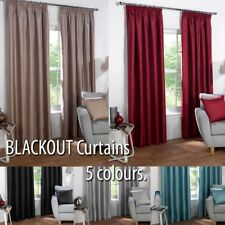 Reduced to Clear - Thermal BLACKOUT Plain Curtains to Block Sunlight in 6 sizes