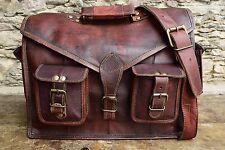 Men's New Genuine Vintage Brown Leather Messenger Bag Shoulder Laptop Briefcase