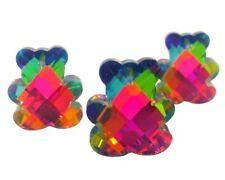 3 Teddy Bear Vitrail Crystal Pendants Chandelier Crystal Rainbow 24mm