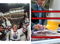 "WAYNE GRETZKY signed ""EDMONTON OILERS"" 8X10 PHOTO b PROOF - Stanley Cup COA"