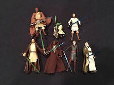 """Star Wars Clone Wars Figure Lot! Obi-Wan, Yoda, Anakin, Mace 3 3/4"""""""