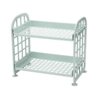 Storage Shelves,Plastic Small Storage Shelves-2 Tier Shelf Shelving,Kitche O5G0