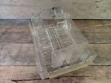 Clear Plastic Peg Board Tray Expandable Shelf Organizer Media Cd Video Games Dvd