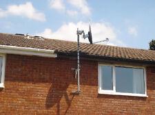"12"" T & K Wall Mounting Bracket-TV Aerial Satellite Dish Mast Install Galvanized"