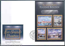 CENTRAL AFRICA 2012 EUGENE BOUDIN  SHEET FIRST DAY COVER