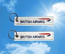 British Airways Logo keychain keyring luggage baggage tag