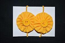 Girls yellow school hair ties - handmade