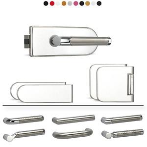 Bensa Doors - Weiß Diamant Glastürgarnitur Set Glastürbeschlag UV Rund / Glastür