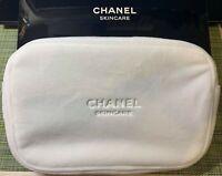 CHANEL VIP GIFT COSMETIC/MAKEUP BAG velvet big white skincare le 2019