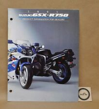 1991 Suzuki GSX-R750 GSXR750 Dealer Product Information Specification Brochure