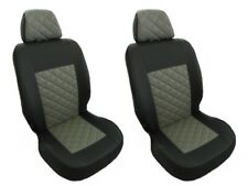 FRONT Seat Covers 1+1 FOR FORD TRANSIT MK7 MK8 CUSTOM GREY Eco Leather