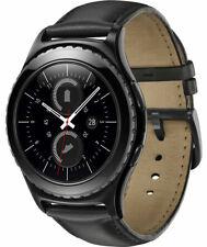 Samsung Galaxy Gear S2 Smart Watch Bluetooth Wi-Fi Leather Black UK