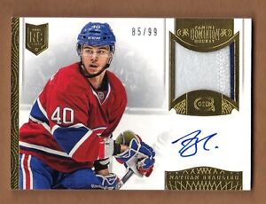 2013/14 Panini Dominion NATHAN BEAULIEU Rookie Patch Auto 85/99 Canadiens