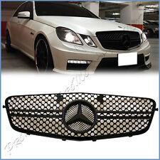 All Mist Black E63AMG Style Front Grille For 10-13 M Benz W212 E-Class Sedan Use