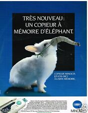 Publicité Advertising 1989 Le Copieur Minolta