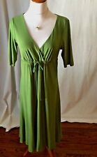New Green Empire Dress With Tie from Jones New York  Size 8 NWOT