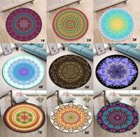 Mandala Pattern Circle Velboa Floor Rug Carpet Room Doormat Non-slip Area Mat