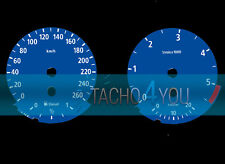 Cristal velocímetro para bmw 3er e90 & 5er e60 diesel 260 multaránpor km/h m3 m5 526502 azul