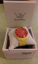 LTC WATCH. yELLOW / RED.