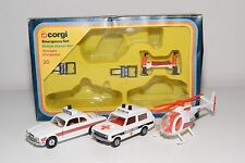 \ CORGI TOYS GIFTSET GIFT SET 20 EMERGENCY SET JAGUAR RANGE ROVER MINT BOXED