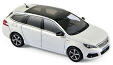 PEUGEOT 308 SW GT LINEA 2017 Pearl White Blanco Metálico 1:43 Norev